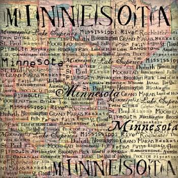 Minnesota 12x12 Paper- Map