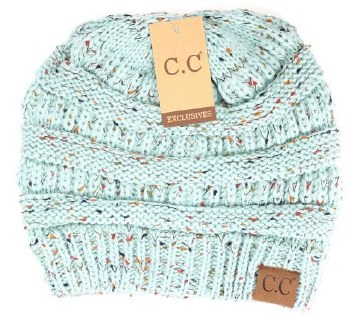 CC Knit Flecked Beanie- Mint