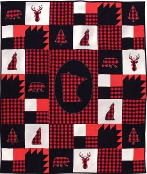 MN Buffalo Check Throw Kit- Red & Black