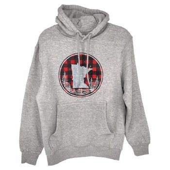 Minnesota Buffalo Plaid Circle Hoodie- Small