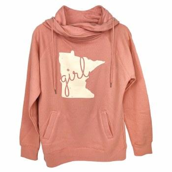 Minnesota Girl Cowl Neck Sweatshirt- Small