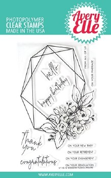 Avery Elle Modern Floral Clear Stamp