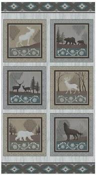 Nature & Wildlife Fabric Panel- Modern Lodge