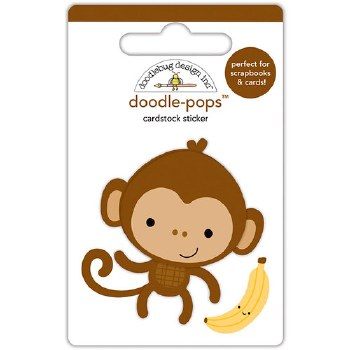 At The Zoo Stickers- Doodle Pops- Monkey Mike