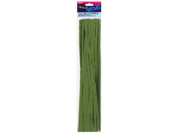 "Darice Chenille Stems 6mm, 12""- Moss"