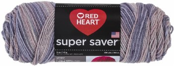 Red Heart Super Saver Yarn, Multi-Color- Mulberry Mix