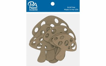 Paper Accents Chipboard- Mushrooms 6ct