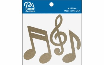 Paper Accents Chipboard- Music Notes 8ct