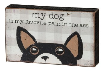 Wood Box Sign, Spunky Pets- My Favorite