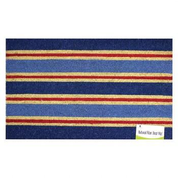 Natrual Fiber Door Mat- Nautical Stripe