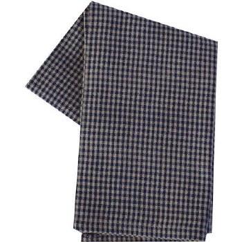 "Mini Check 20""x28"" Tea Towel- Teadye & Navy"