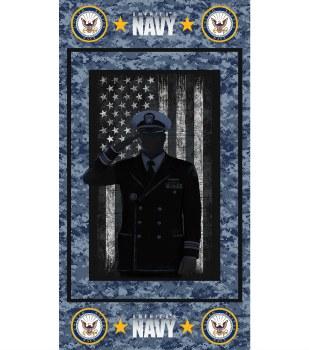 Patriotic Fabric Panel- Navy