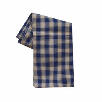 "House Check 20""x28"" Tea Towel- Teadye & Navy"