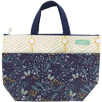 Thermal Insulated Lunch Bag- Navy Floral