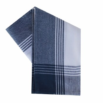 "McLeod Stripe 20""x28"" Tea Towel- White & Navy"