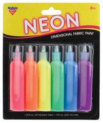 Nicole Puffy Paints, 6ct- Neon
