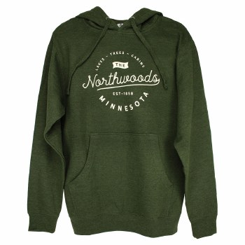 The Northwoods Green Hoodie- Small