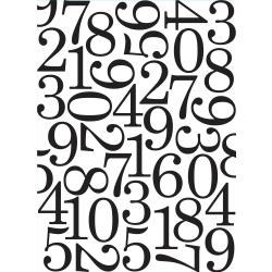 Darice Embossing Folder- Backgrounds- Numbers