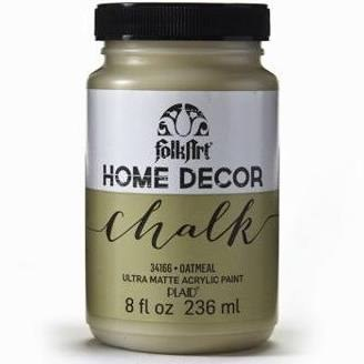 FolkArt Home Decor Chalk Paint 8 oz- Oatmeal
