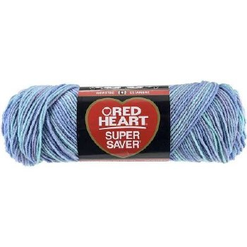 Red Heart Super Saver Yarn- Ocean