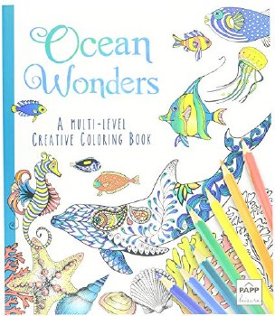 Adult Coloring Book- Ocean Wonders
