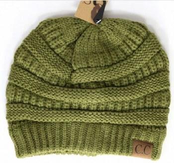 CC Knit Beanie- Olive