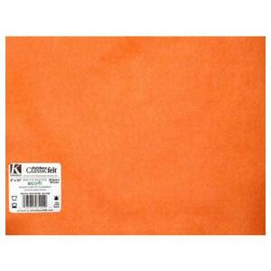 "Rainbow Classic Felt, 9""x12""- Orange"