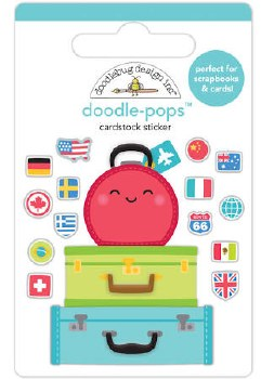 I (Heart) Travel Doodle-Pops- Pack Your Bags