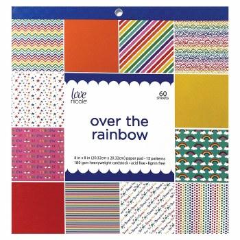 Love, Nicole 8x8 Paper Pad- Over the Rainbow