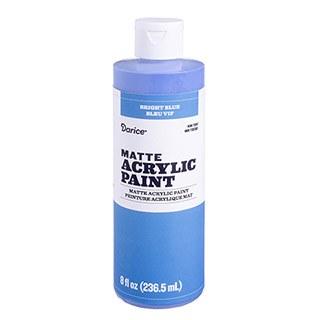 Matte Acrylic Paint, 8oz- Bright Blue