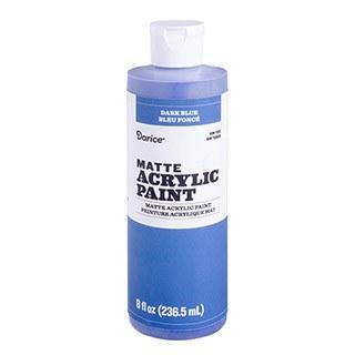 Matte Acrylic Paint, 8oz- Dark Blue