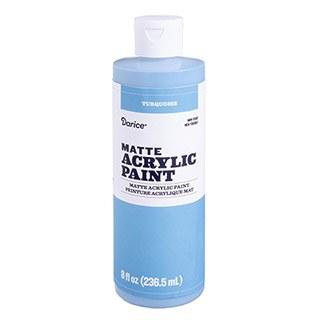 Matte Acrylic Paint, 8oz- Turquoise