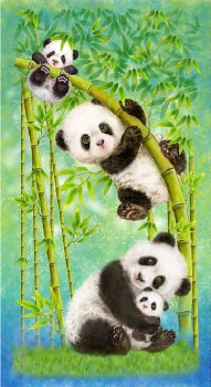 Animals Fabric Panel- Panda Sanctuary
