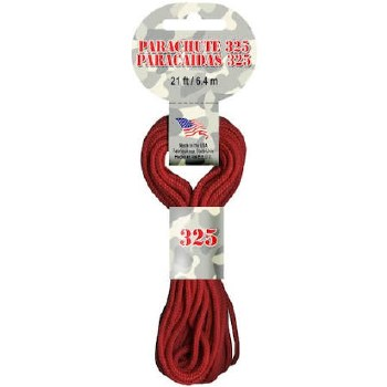 Parachute Cord 3mm x 21ft- Red