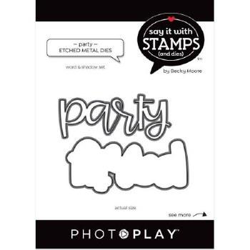 Say It in Stamps Party Words Metal Dies