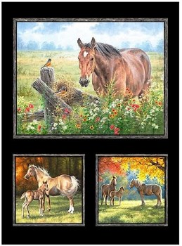 Animals Fabric Panel- Pastoral Song