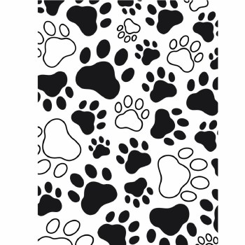 Darice Embossing Folder- Background- Paw Print