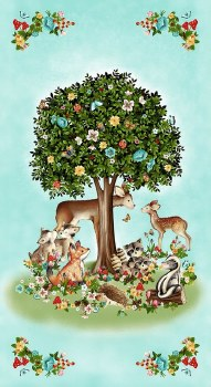 Kids & Baby Fabric Panel- Peace in the Forest