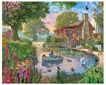 Peaceful Pond - 1,000 Piece Puzzle