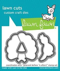 Lawn Fawn Before 'n Afters Peacock Craft Dies