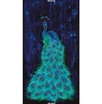 Animals Fabric Panel- Peacock Plume