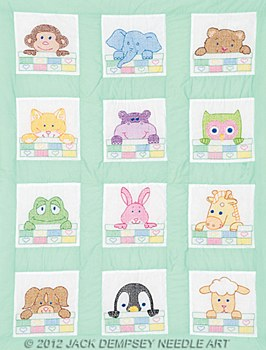 "9"" Quilt Blocks- Peek-A-Boo Nursery"
