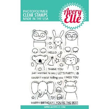 Avery Elle Peek a Boo Pals Clear Stamps