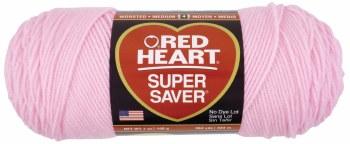 Red Heart Super Saver Yarn- Petal Pink