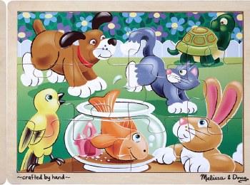 Melissa & Doug Jigsaw Puzzle- Pets 12pc