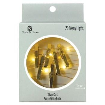 20ct Teeny Photoclips Lights Set- Gold