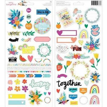 Amy Tangerine Picnic in the Park Stickers- Icon Sheet