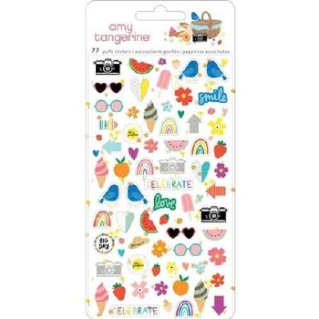 Amy Tangerine Picnic in the Park Stickers- Mini Puffy