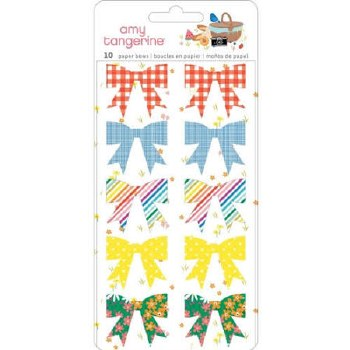Amy Tangerine Picnic in the Park Paper Bows