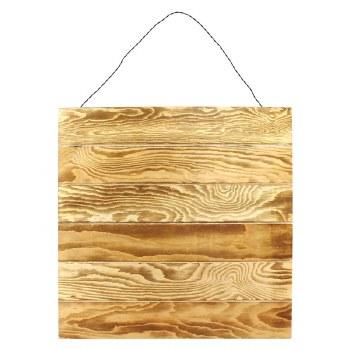 "17""x17"" Wood Hanging Pallet- Burned Wood"
